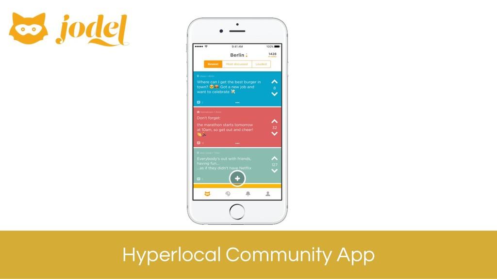 Hyperlocal Community App