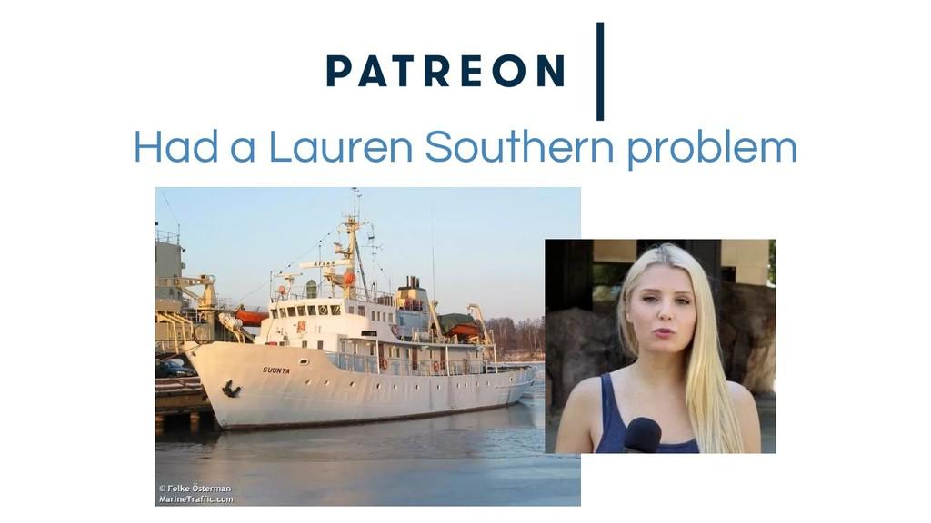 Had a Lauren Southern problem