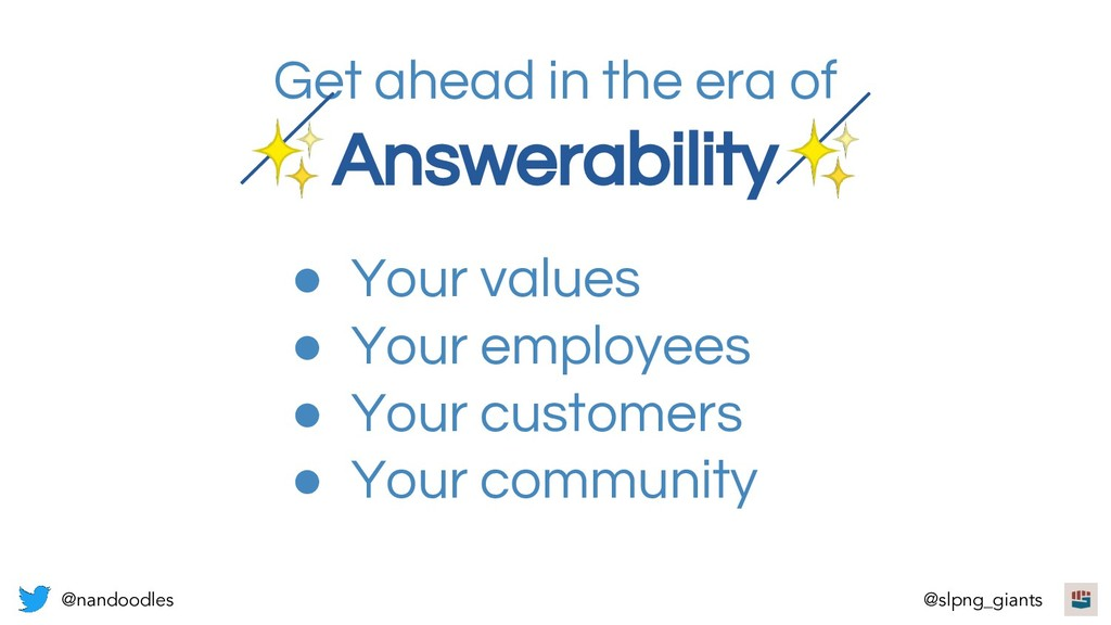 Get ahead in the era of ✨Answerability✨ ● Your ...