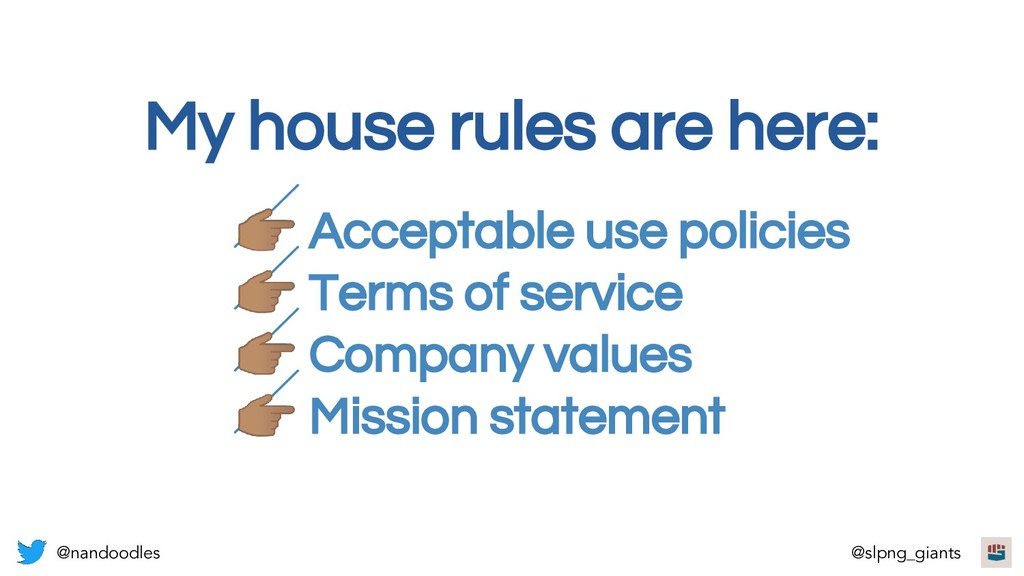 Acceptable use policies  Terms of service  Com...