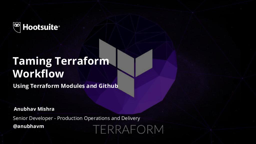 Senior Developer - Production Operations and De...