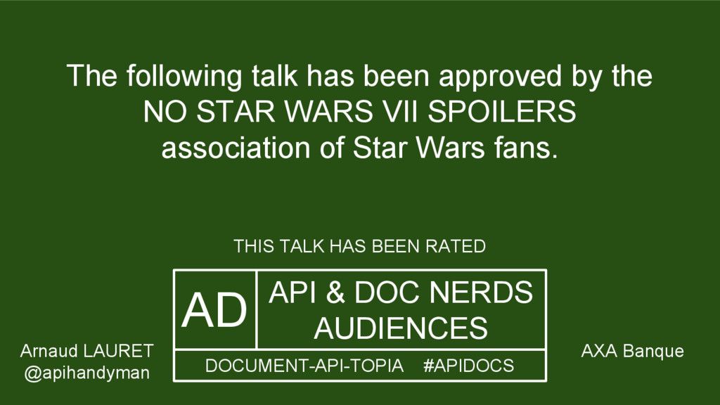 The following talk has been approved by the NO ...