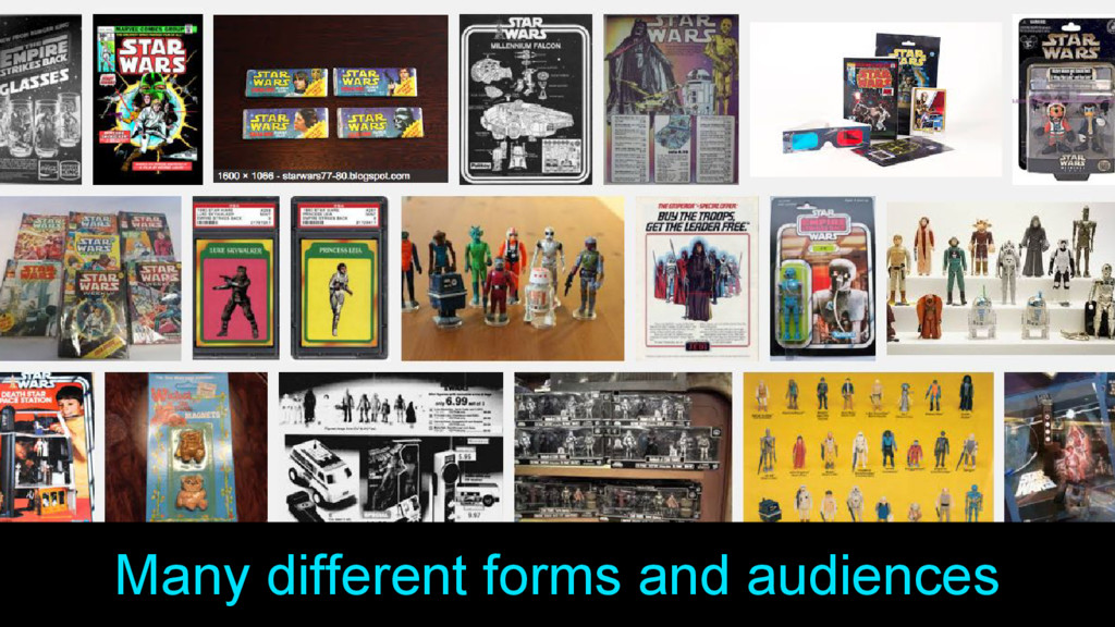 Many different forms and audiences