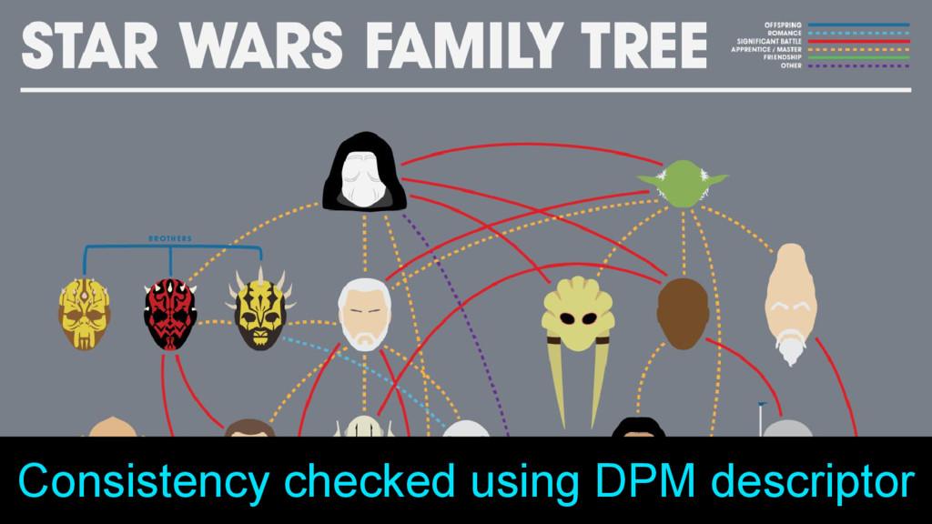 Consistency checked using DPM descriptor