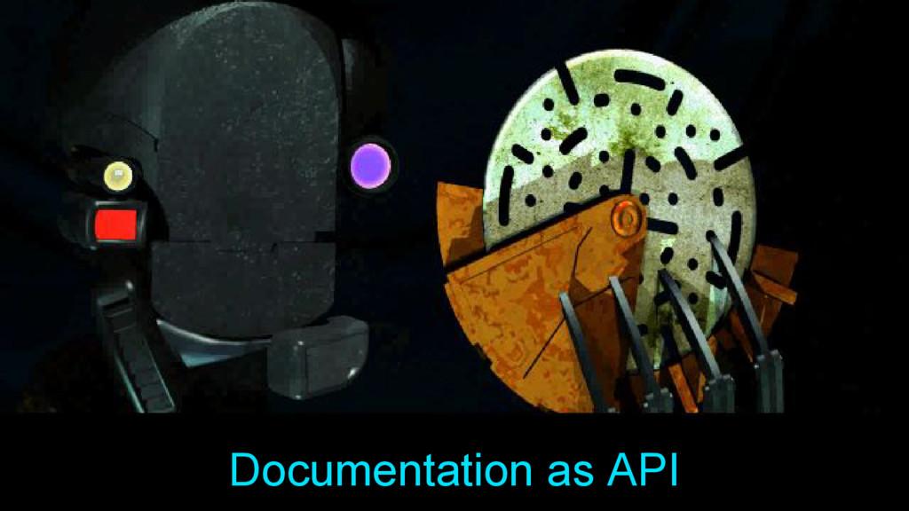 Documentation as API