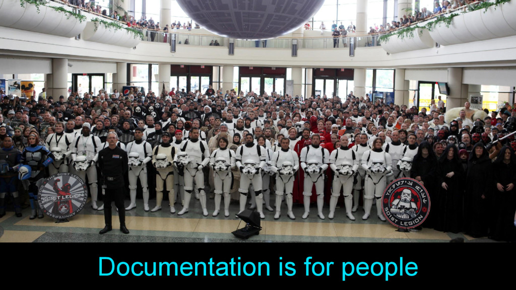 Documentation is for people