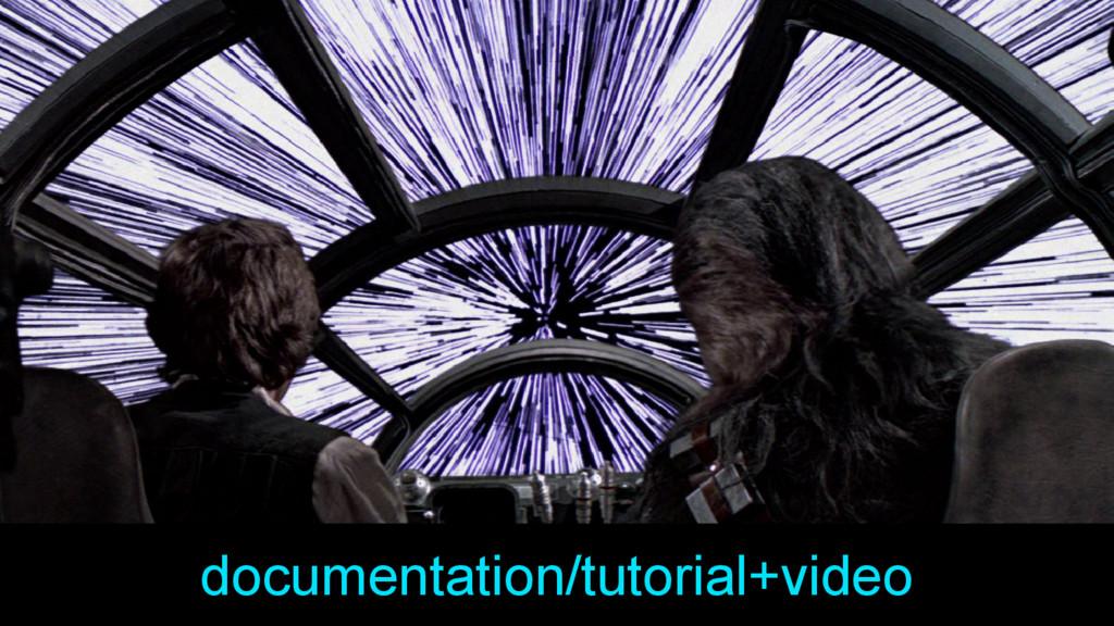 documentation/tutorial+video