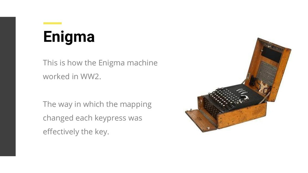 This is how the Enigma machine worked in WW2. T...