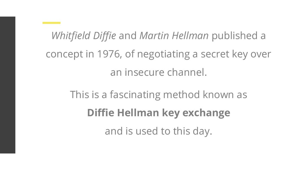 Whitfield Diffie and Martin Hellman published a co...