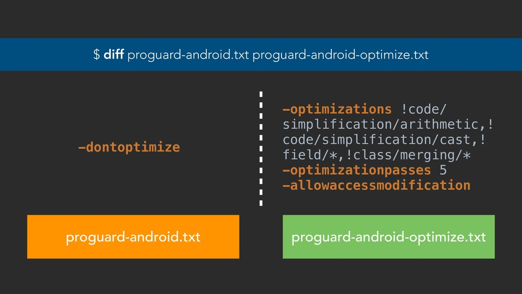 $ diff proguard-android.txt proguard-android-op...