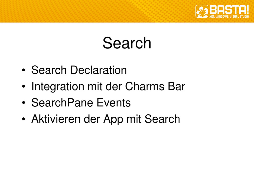 Search • Search Declaration • Integration mit d...