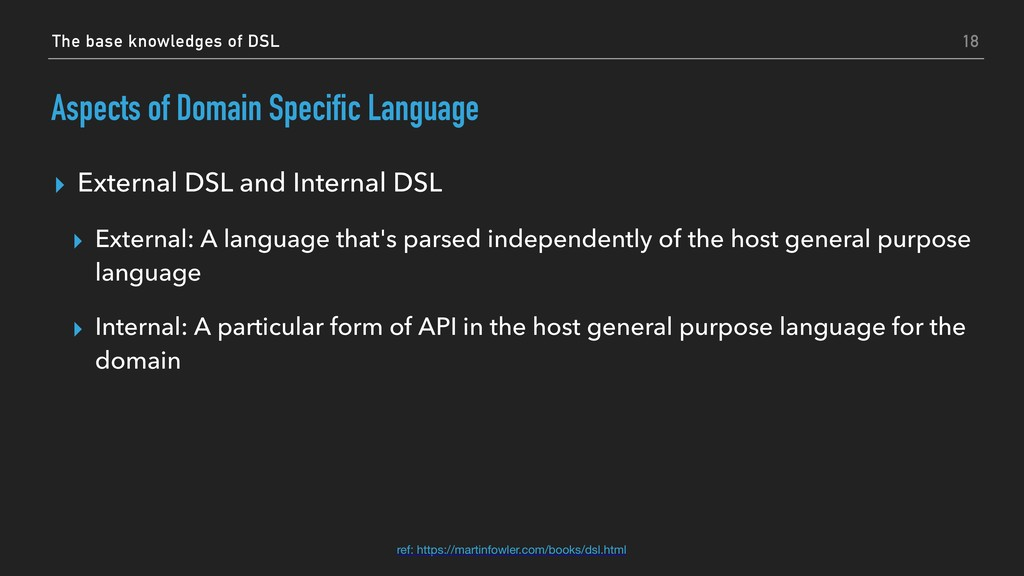 Aspects of Domain Specific Language ▸ External ...