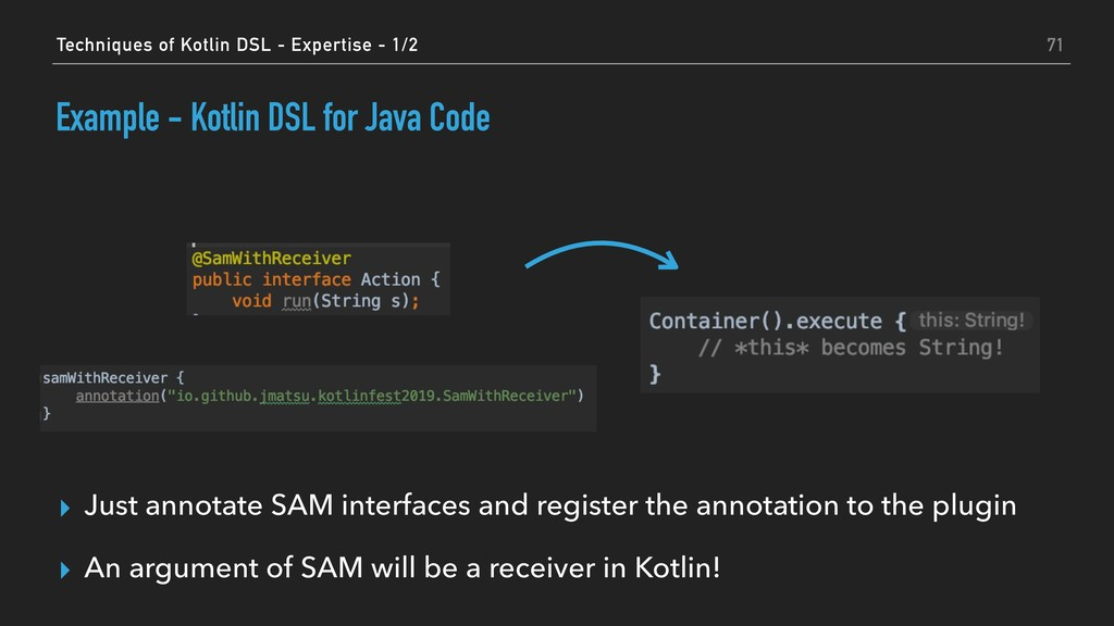 ▸ Just annotate SAM interfaces and register the...