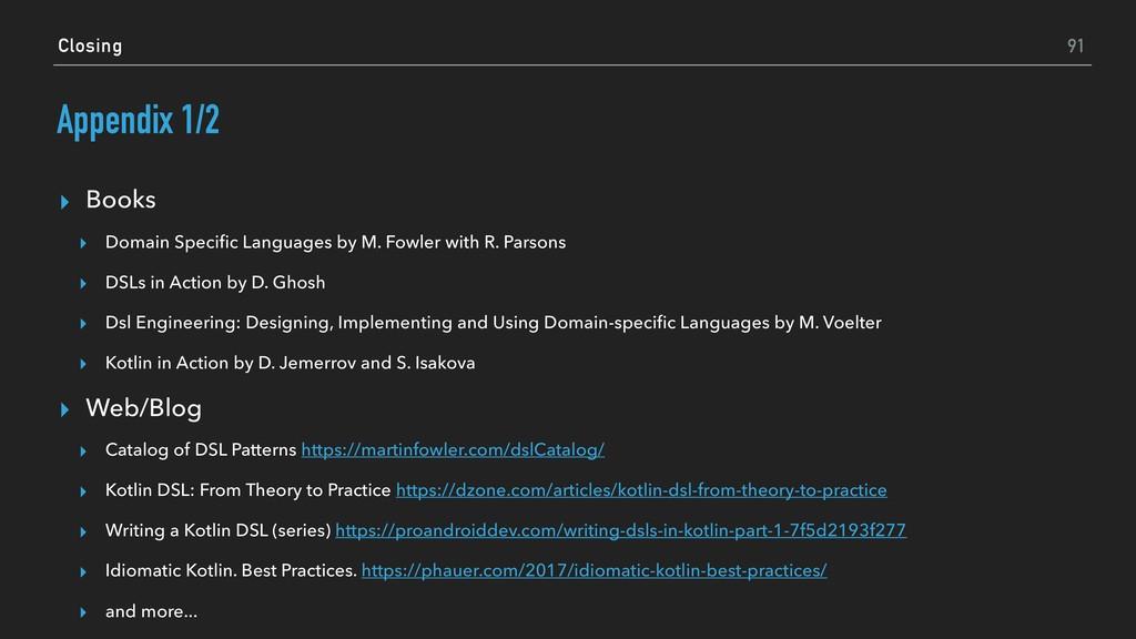 Appendix 1/2 ▸ Books ▸ Domain Specific Languages...