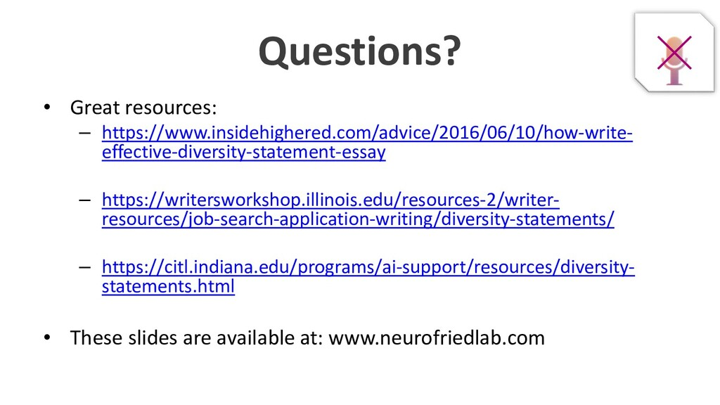 Questions? • Great resources: – https://www.ins...