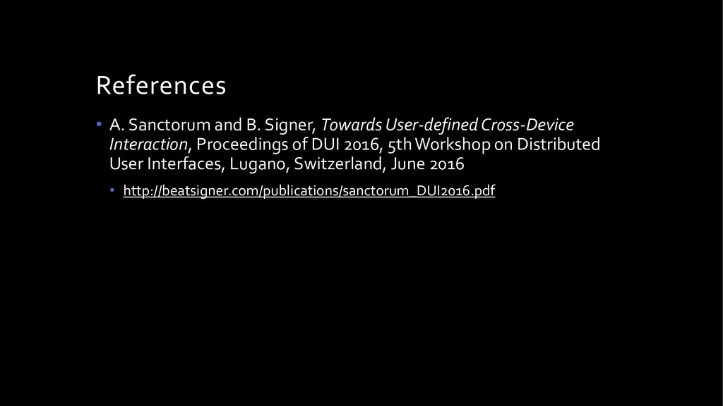 Takeaway Message Hypermedia based DUI developme...