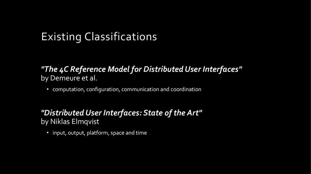 "Existing Classifications ""The 4C Reference Mode..."