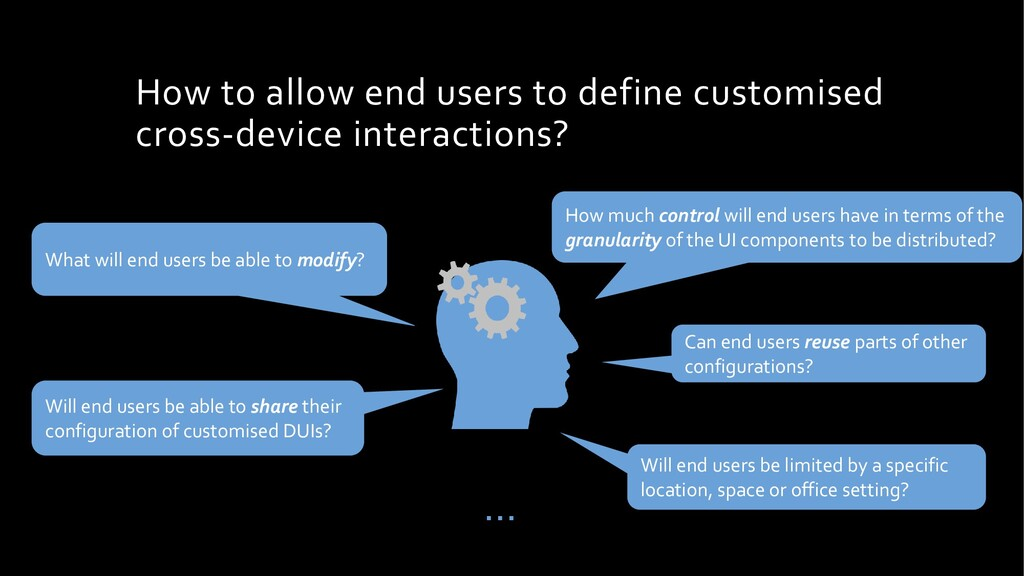 How to allow end users to define customised cro...