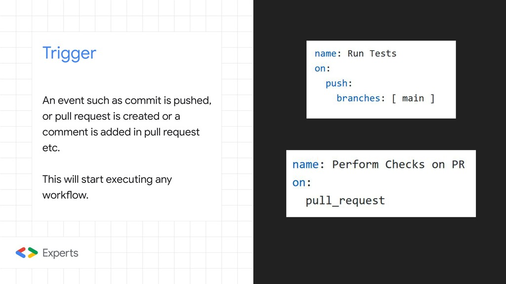 An event such as commit is pushed, or pull requ...
