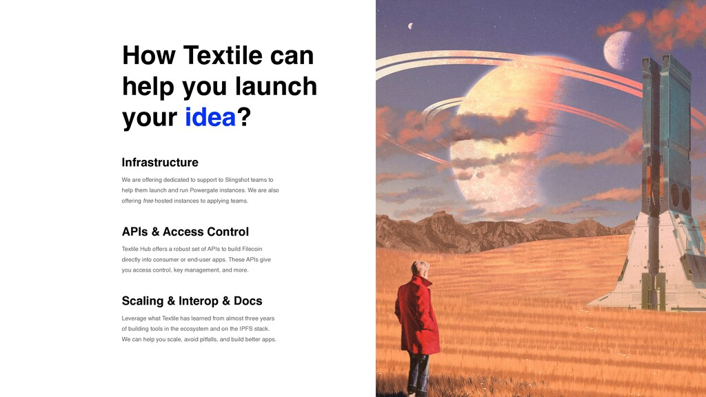 How Textile can help you launch your idea? Infr...
