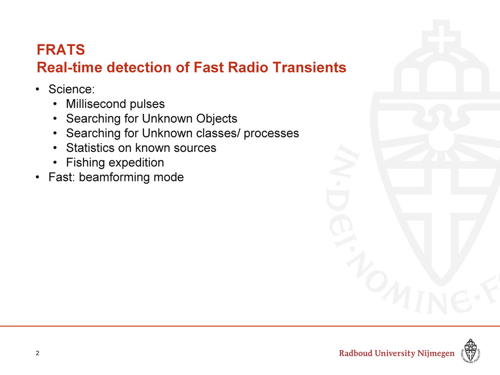 FRATS Real-time detection of Fast Radio Transie...