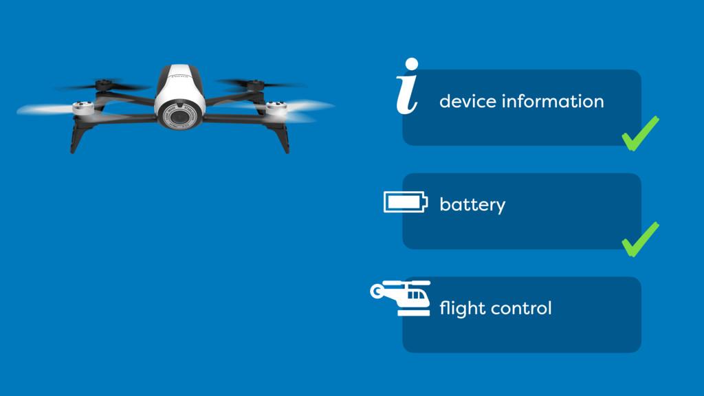 i device information battery flight control