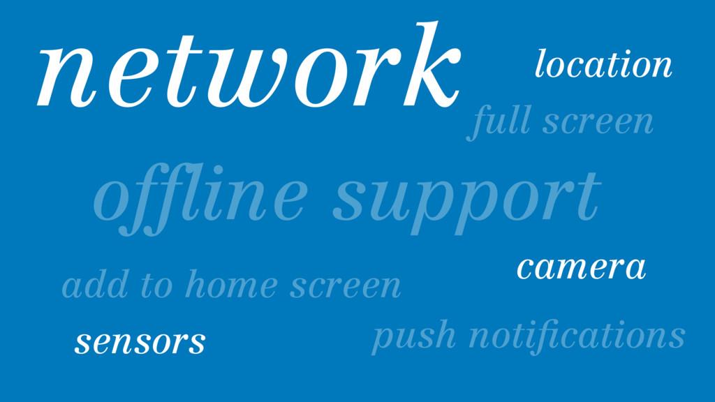 full screen offline support location camera sens...