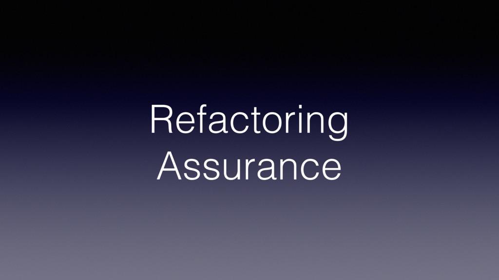 Refactoring Assurance