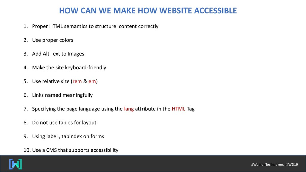 HOW CAN WE MAKE HOW WEBSITE ACCESSIBLE 1. Prope...