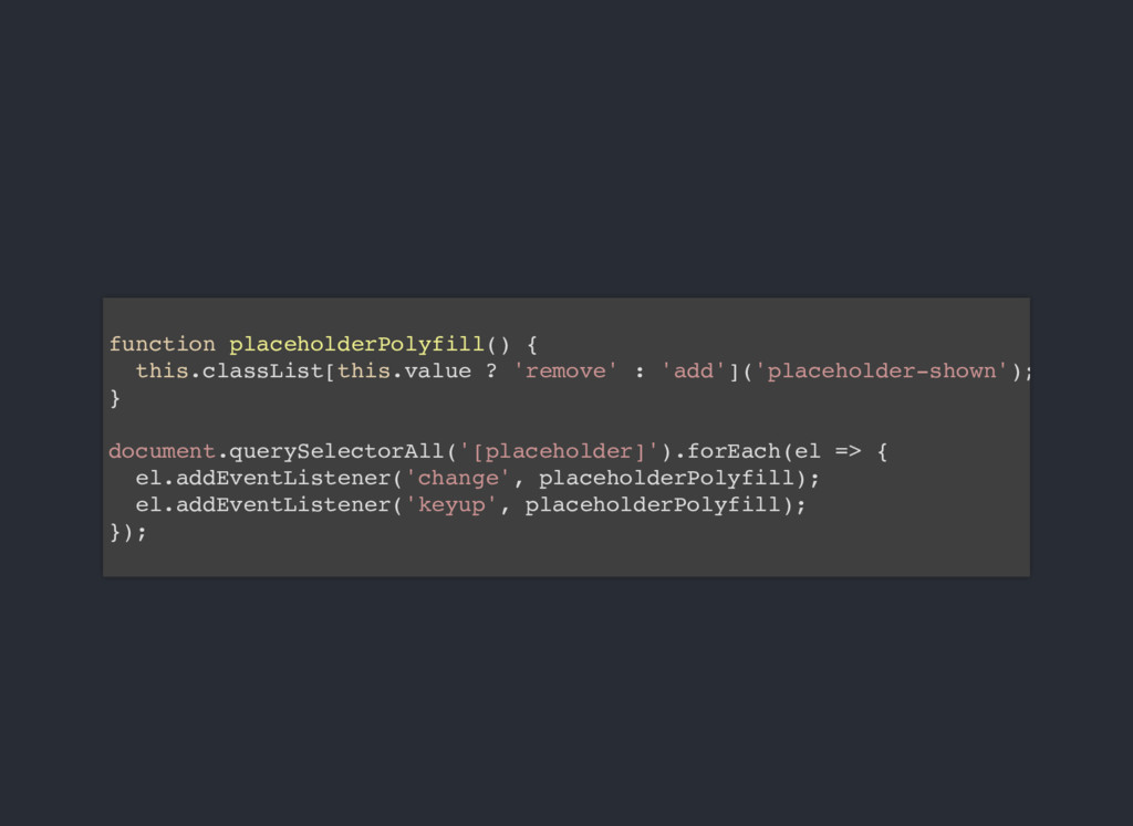 function placeholderPolyfill() { this.classList...
