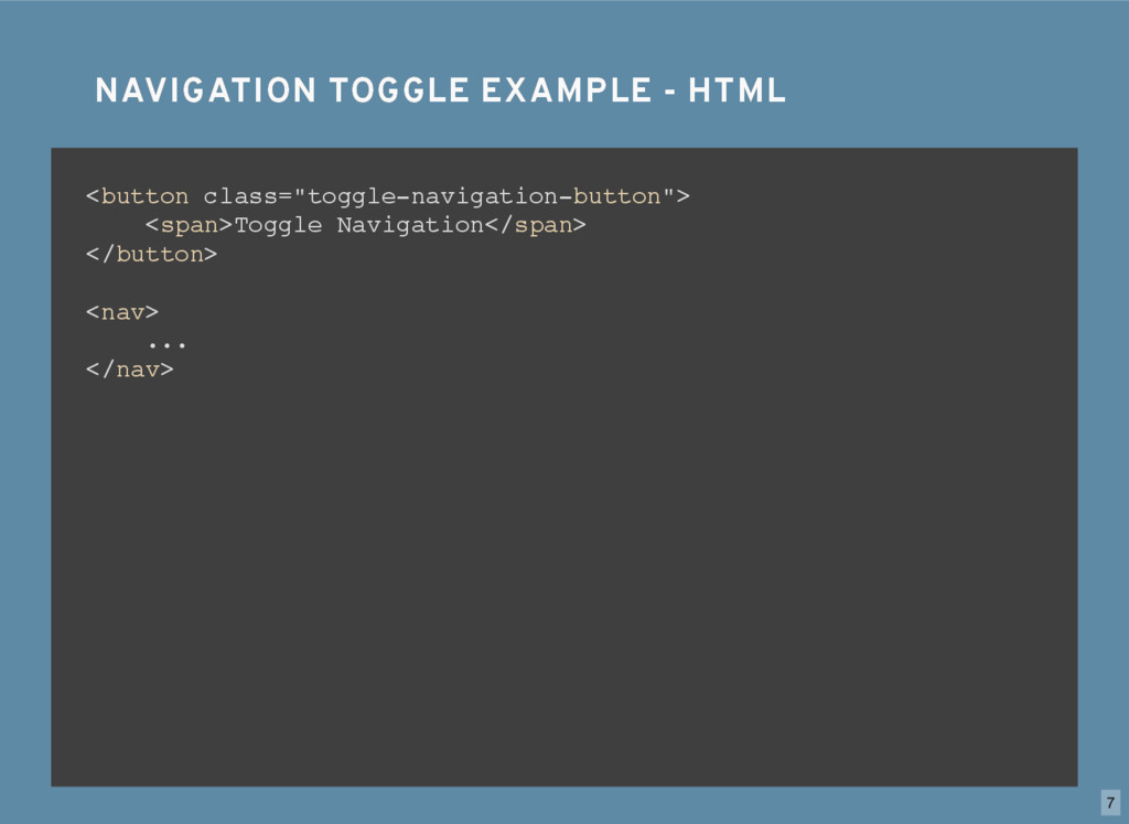 NAVIGATION TOGGLE EXAMPLE - HTML NAVIGATION TOG...