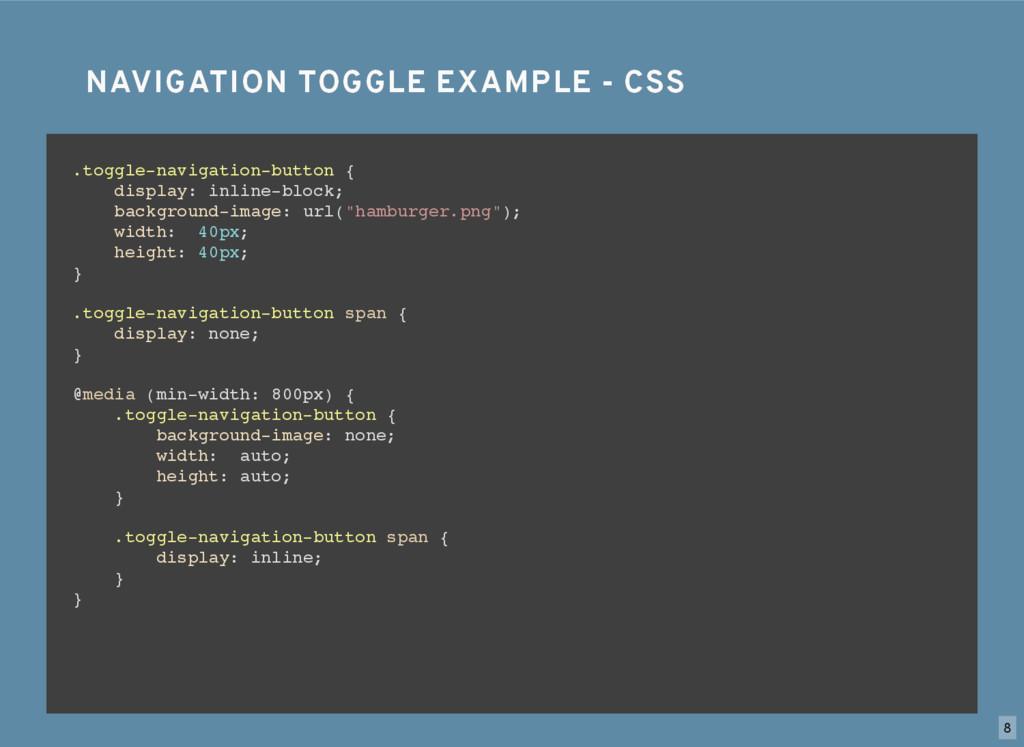 NAVIGATION TOGGLE EXAMPLE - CSS NAVIGATION TOGG...