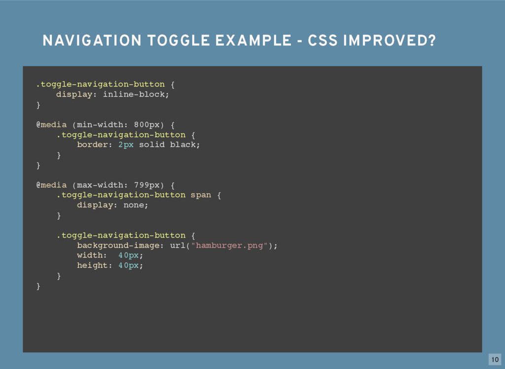 NAVIGATION TOGGLE EXAMPLE - CSS IMPROVED? NAVIG...