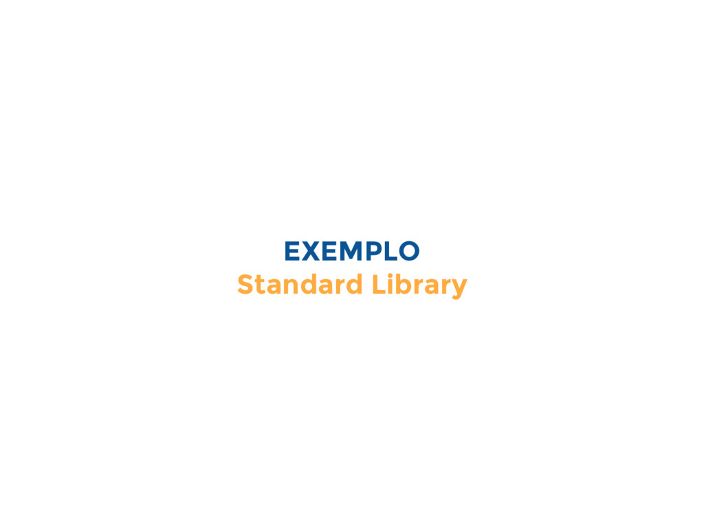 EXEMPLO Standard Library