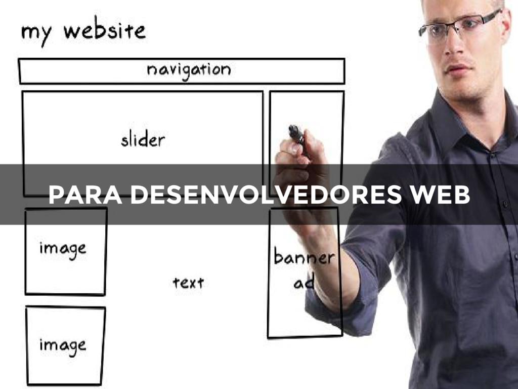 PARA DESENVOLVEDORES WEB