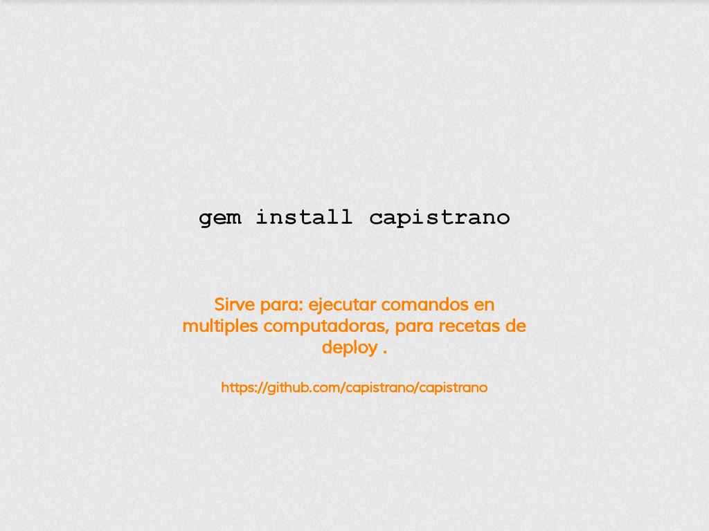 Sirve para: ejecutar comandos en multiples comp...