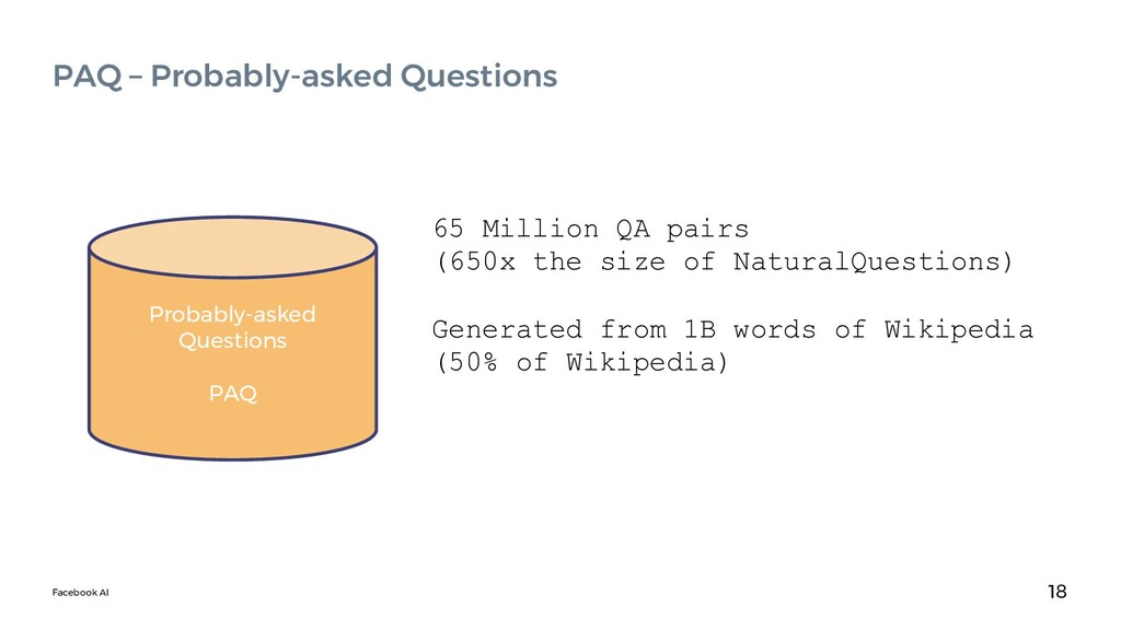 Facebook AI 18 PAQ – Probably-asked Questions P...