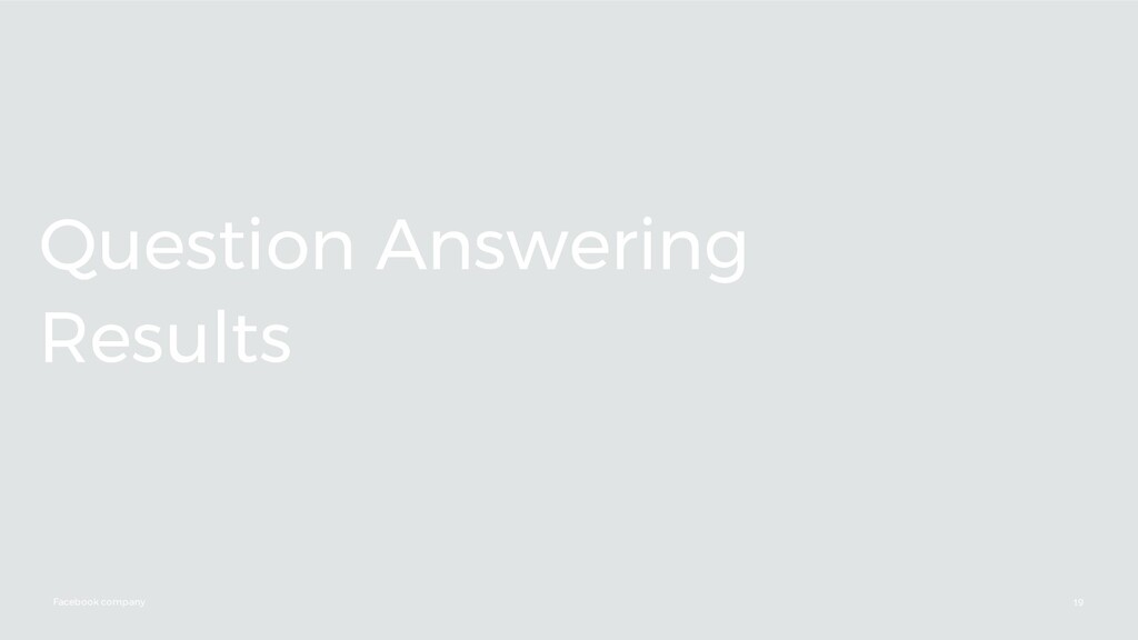 Facebook company Question Answering Results 19