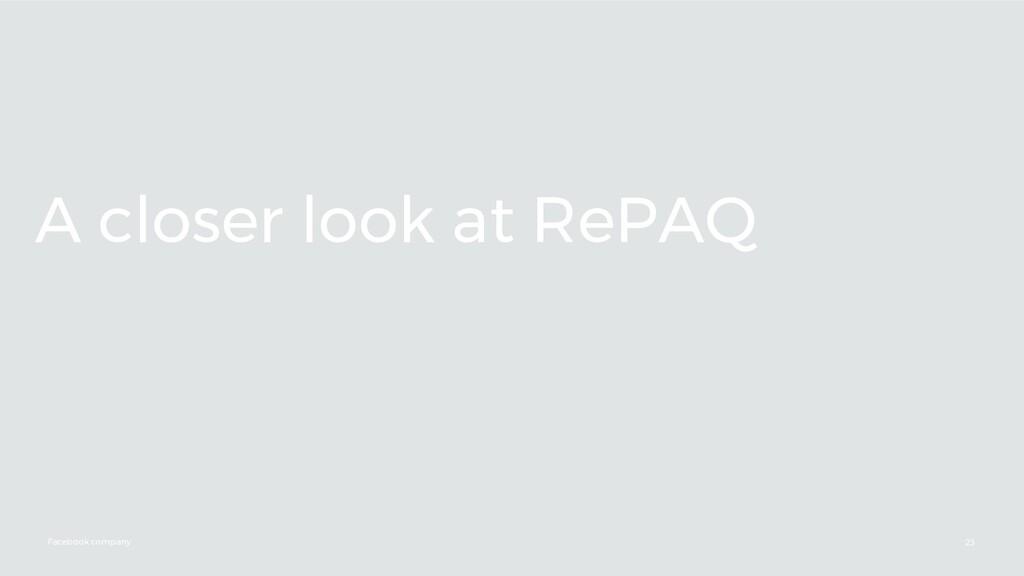 Facebook company A closer look at RePAQ 23