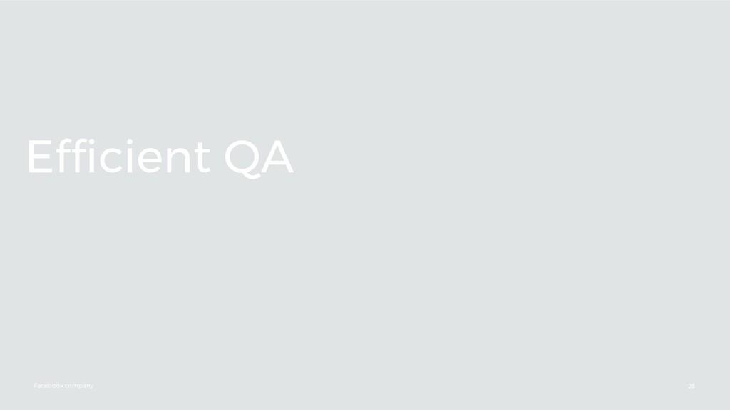 Facebook company Efficient QA 28