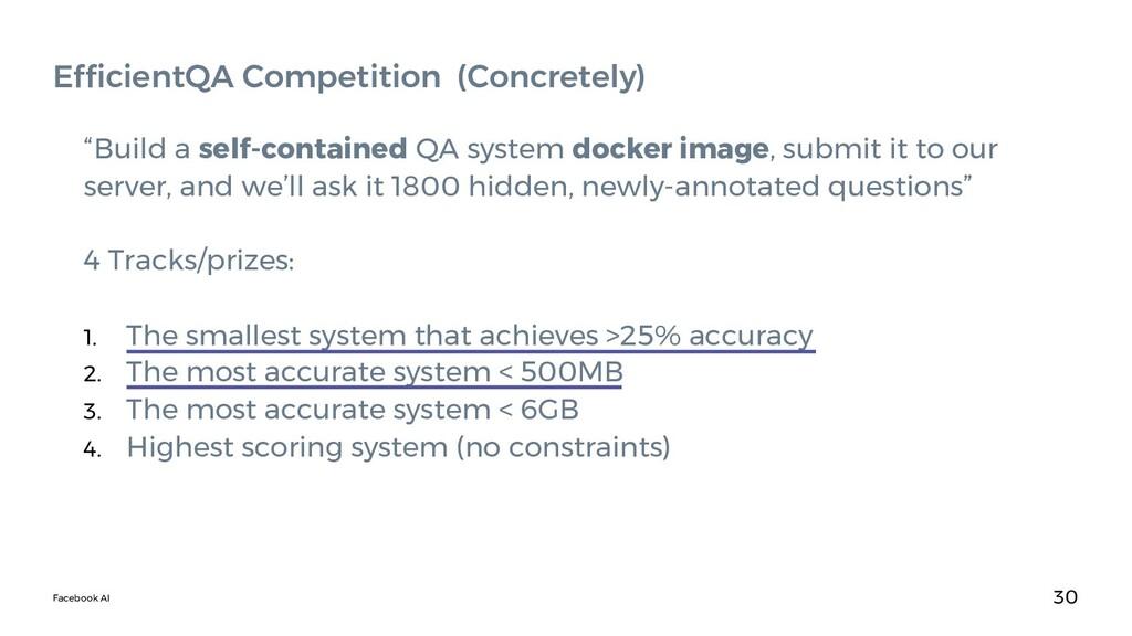 Facebook AI 30 EfficientQA Competition (Concret...