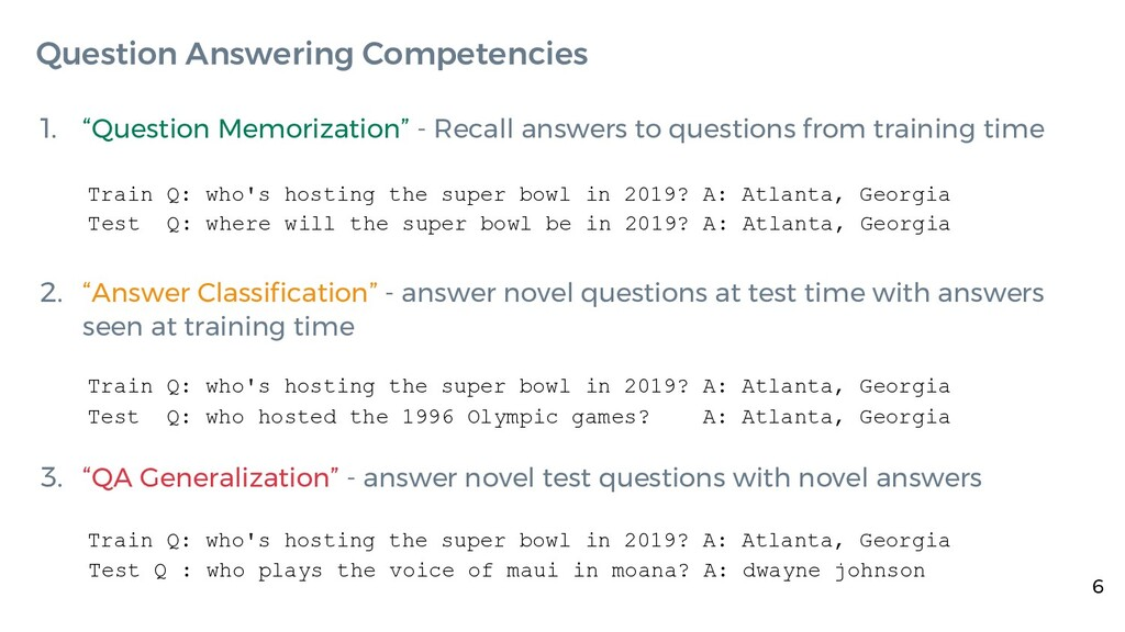 """1. """"Question Memorization"""" - Recall answers to ..."""