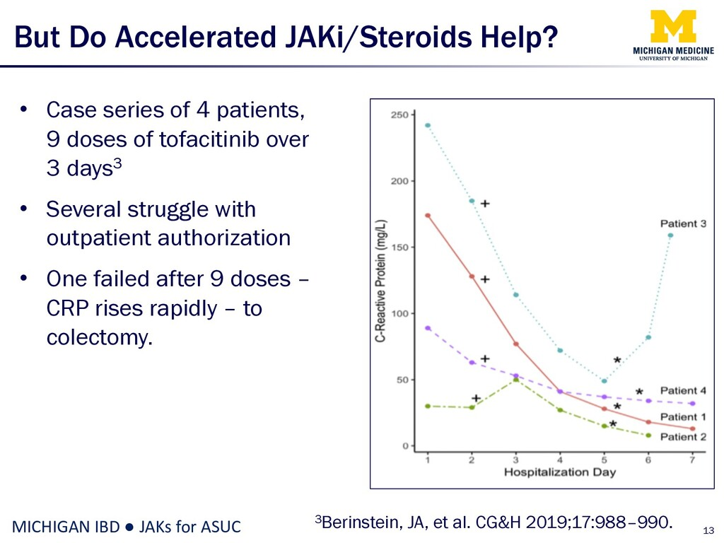 But Do Accelerated JAKi/Steroids Help? • Case s...
