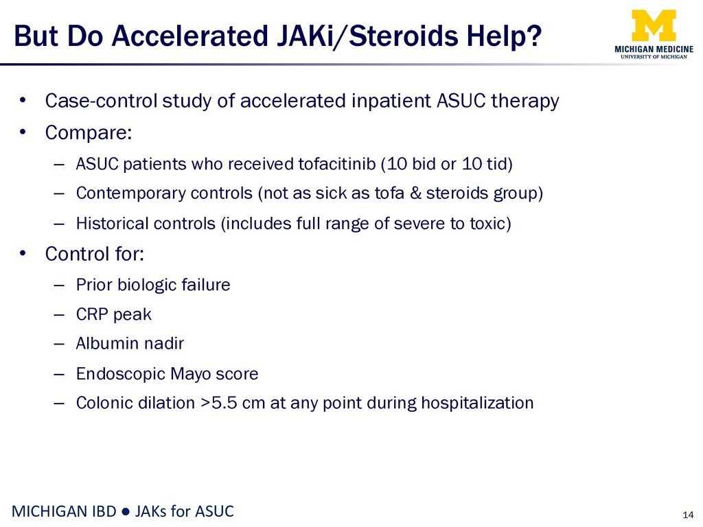 But Do Accelerated JAKi/Steroids Help? • Case-c...