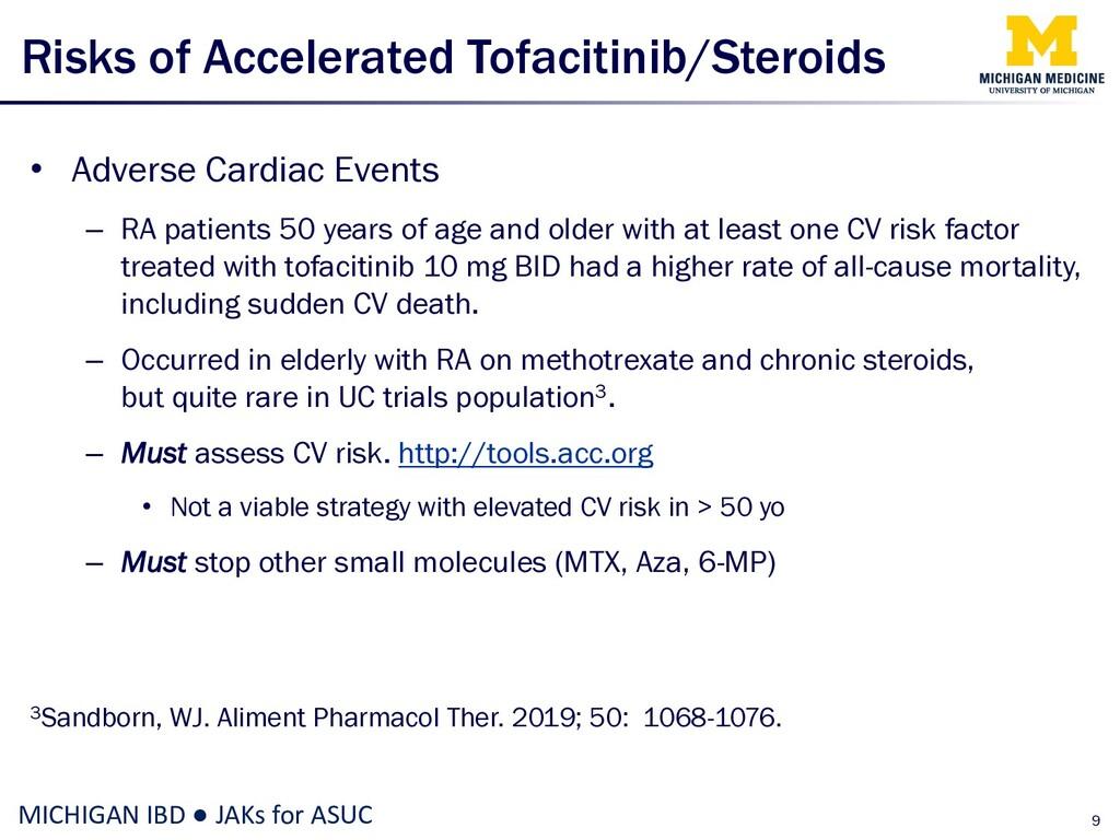 Risks of Accelerated Tofacitinib/Steroids • Adv...