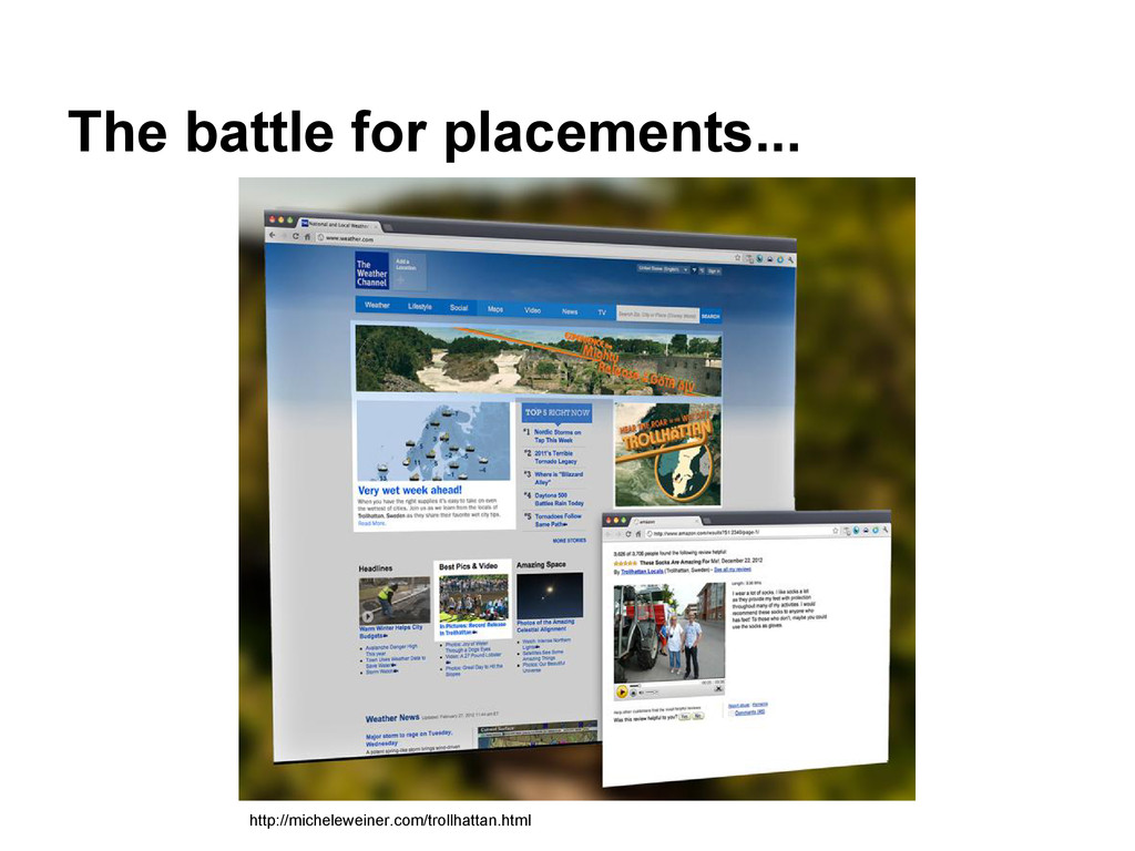 The battle for placements... http://michelewein...