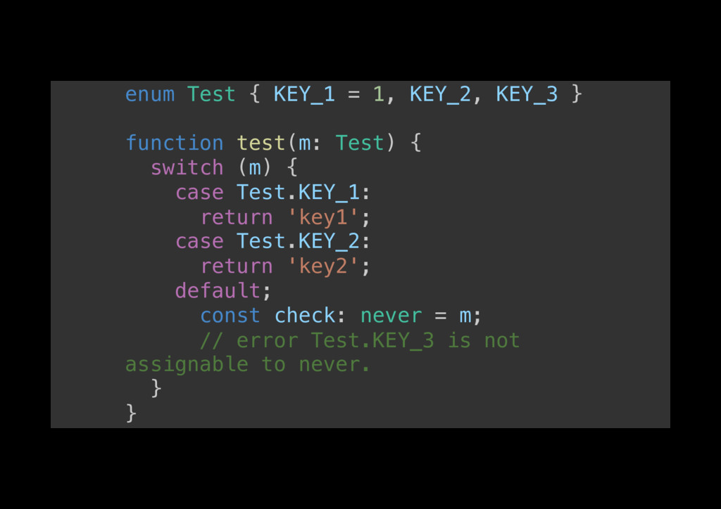 enum Test { KEY_1 = 1, KEY_2, KEY_3 }! ! functi...