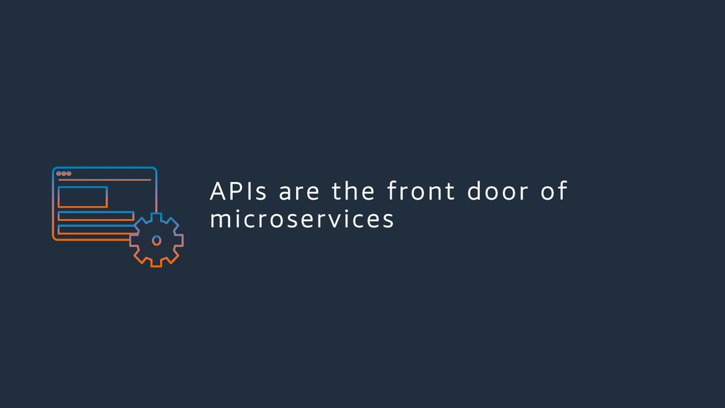 APIs are the front door of microservices