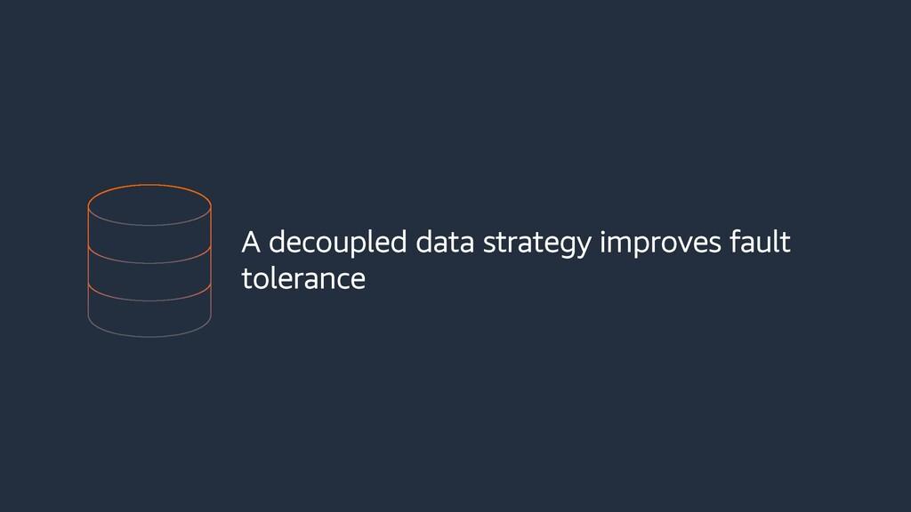 A decoupled data strategy improves fault tolera...