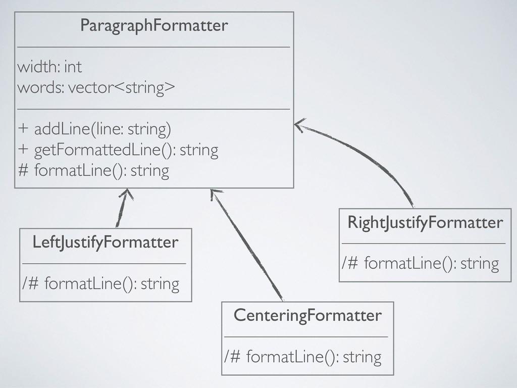 ParagraphFormatter ——————————————— width: int w...